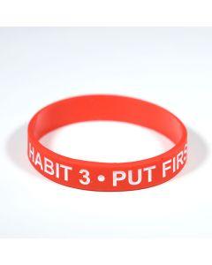 Habit 3 Wristband